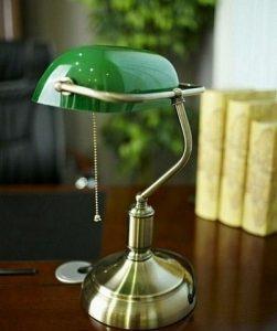 lampada verde da tavolo