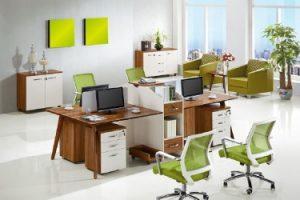 scrivania con separatore arredamento call center