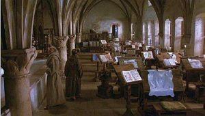 ufficio medievale maestri copisti amanuensi