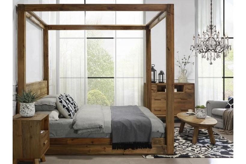 camera da letto legno naturale