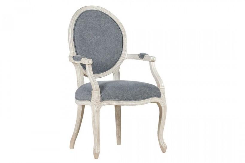 sedie provenzali shabby in legno a forma di medaglione