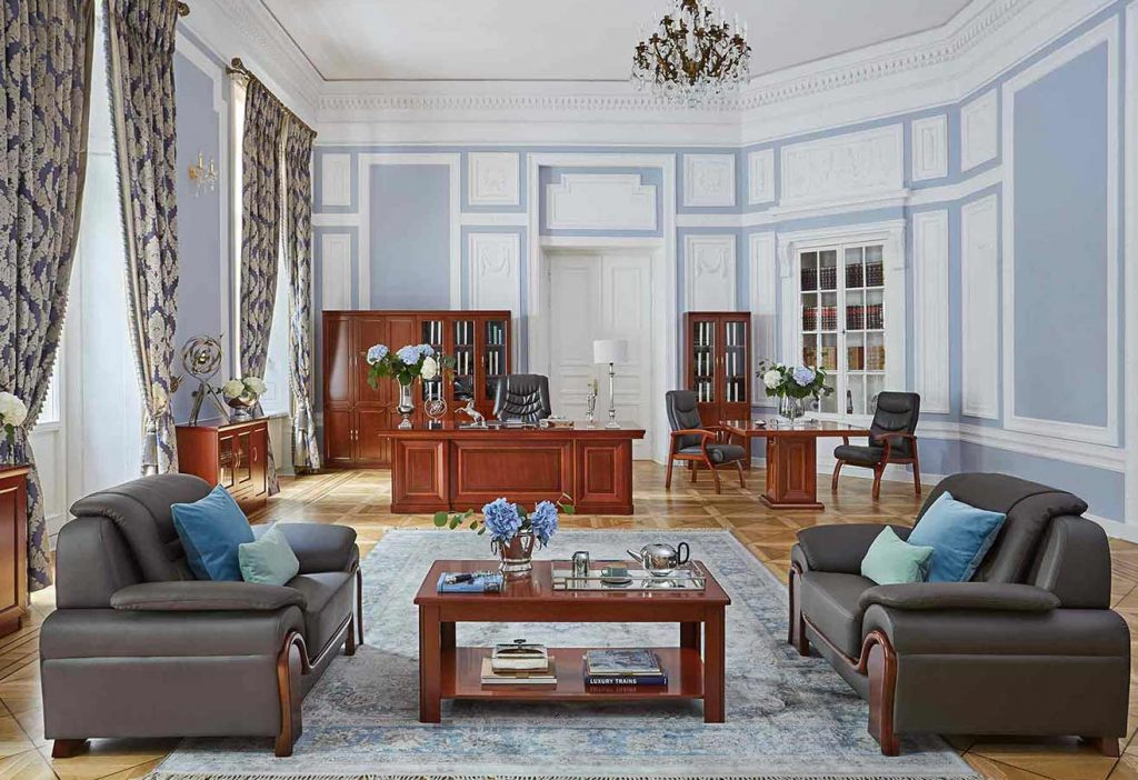 arredo ufficio presidenziale legno noce con i mobili Arrediorg.it